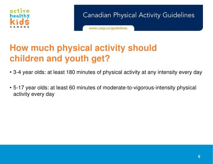 How much physical activity should children and youth get?