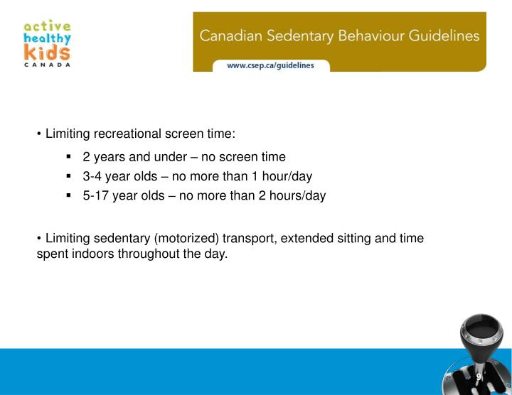 Limiting recreational screen time: