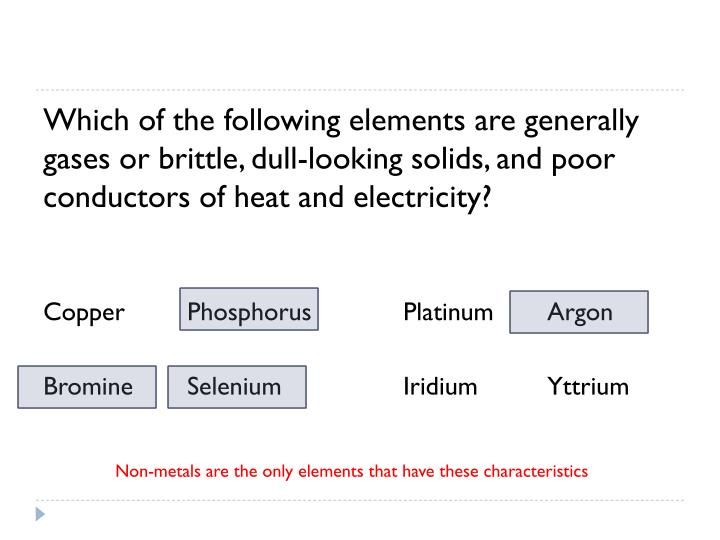 Which of the following elements