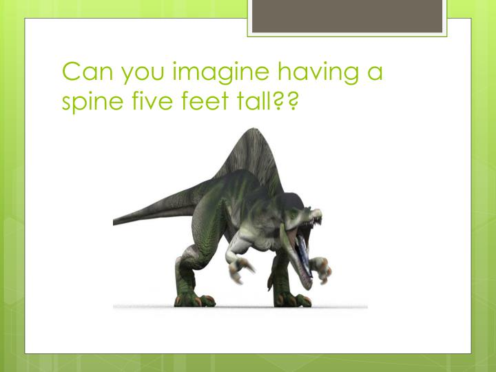 Can you imagine having a spine five feet tall??