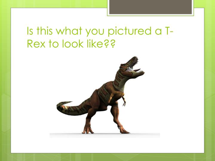 Is this what you pictured a T-Rex to look like??