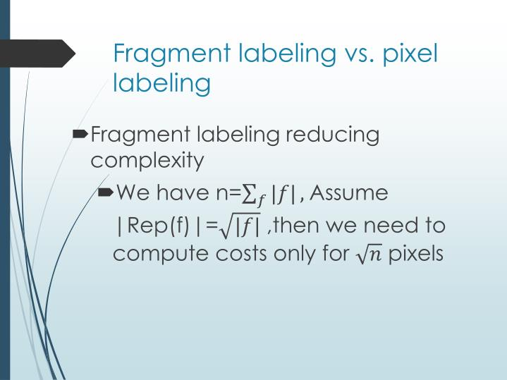 Fragment labeling