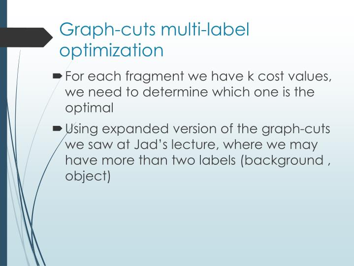Graph-cuts multi-label optimization