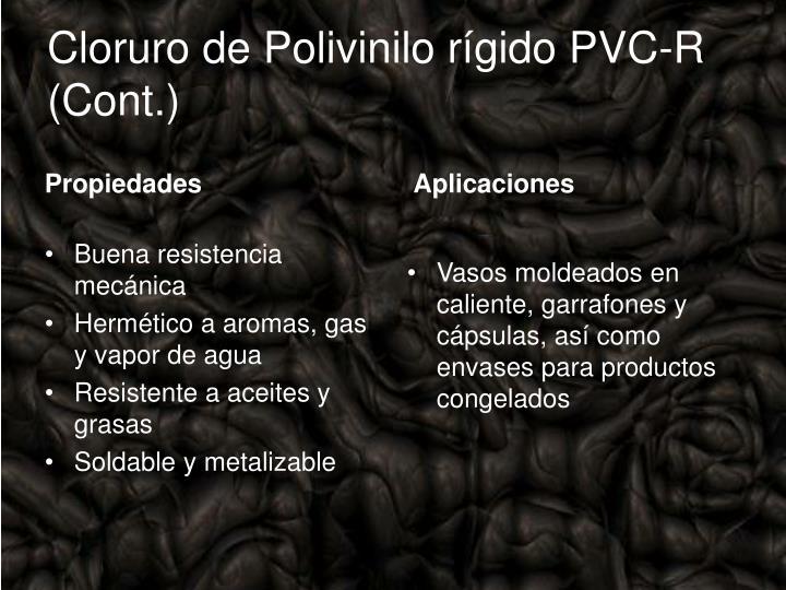 Cloruro de Polivinilo rígido PVC-R