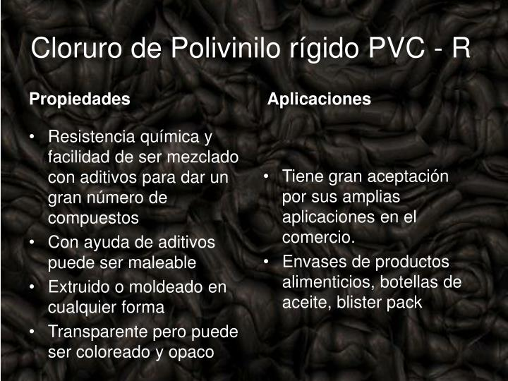 Cloruro de Polivinilo rígido PVC - R