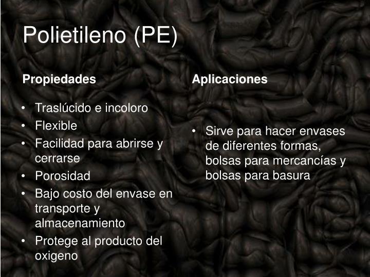 Polietileno(PE)