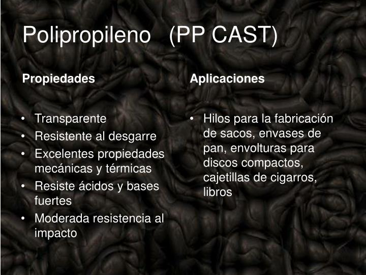 Polipropileno(PP CAST)