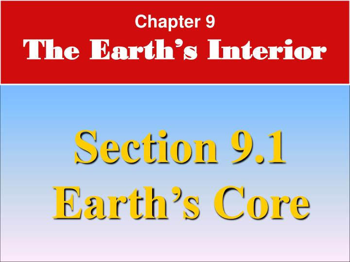 chapter 9 the earth s interior n.