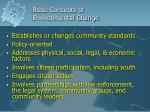 basic concepts of environmental change