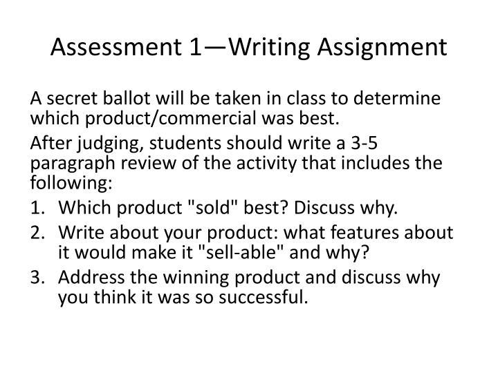 Assessment 1—Writing Assignment