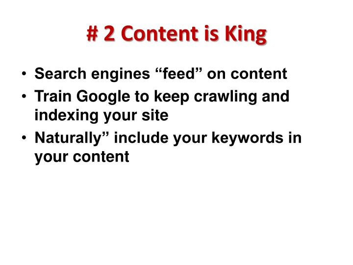 # 2 Content is King