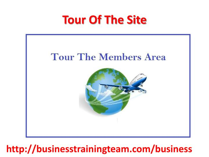 Tour Of The Site