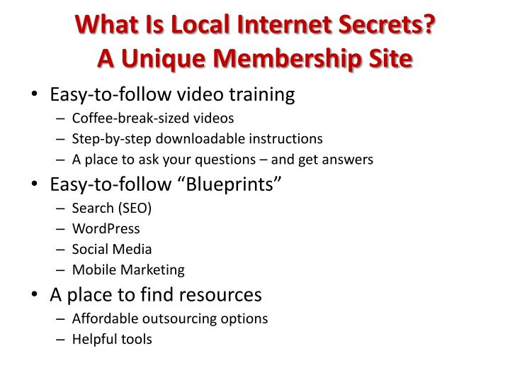 What Is Local Internet Secrets