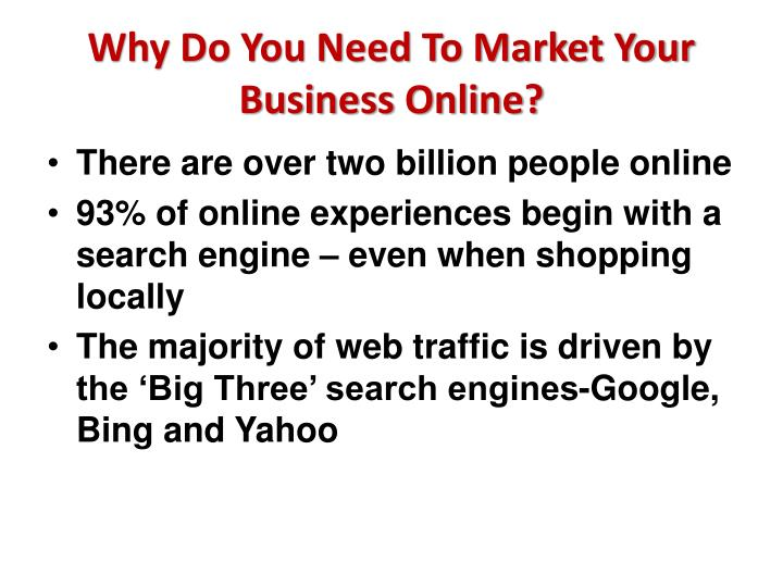 Why do you need to market your business online