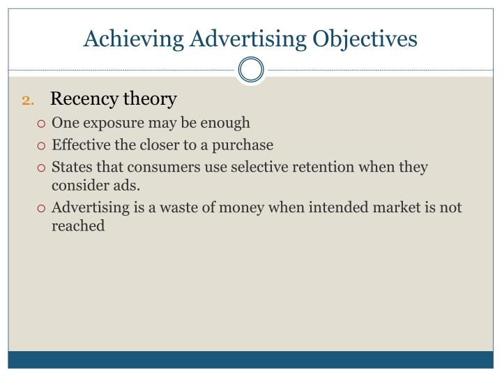 Achieving Advertising Objectives