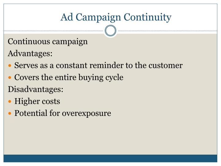 Ad Campaign Continuity