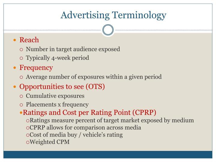 Advertising Terminology