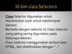 id dan class selectors2