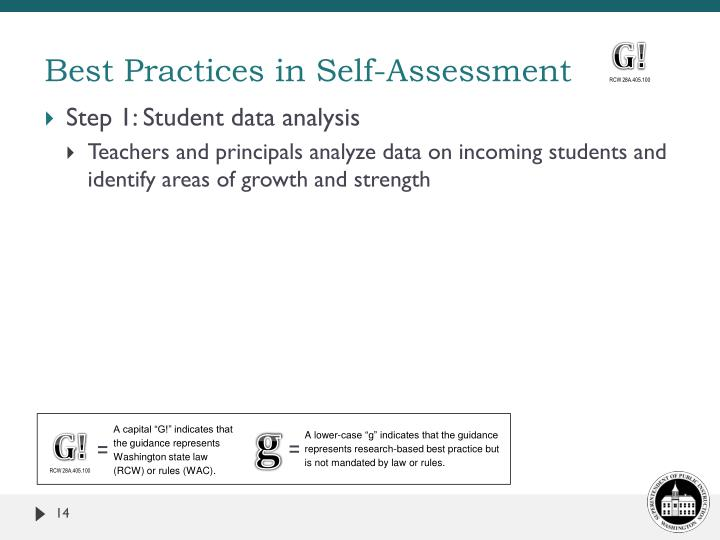 Best Practices in Self-Assessment