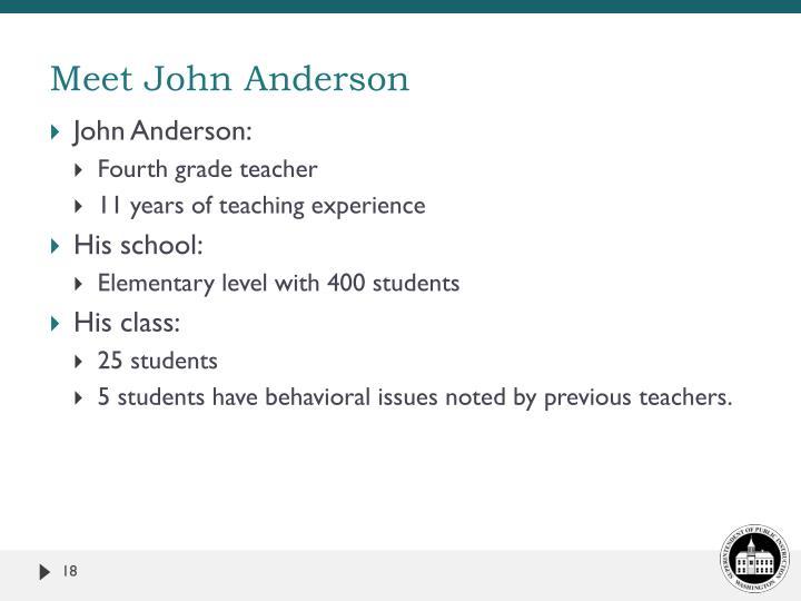 Meet John Anderson