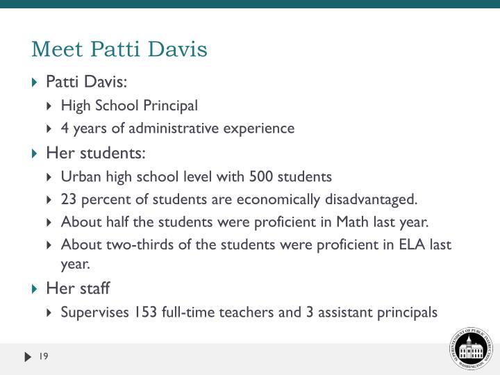 Meet Patti Davis
