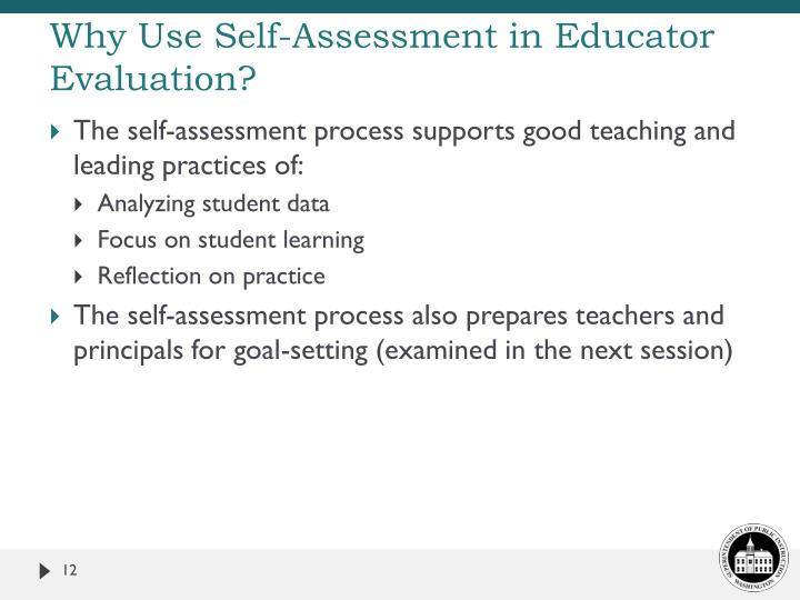 Why Use Self-Assessment in Educator Evaluation?