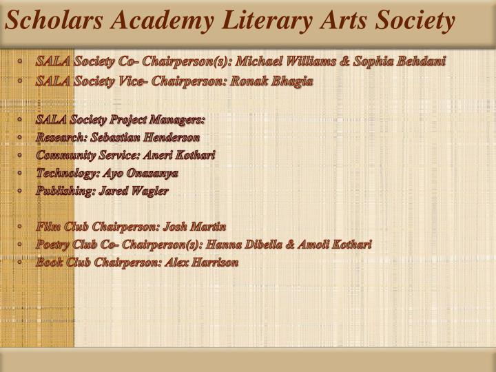 Scholars academy literary arts society1