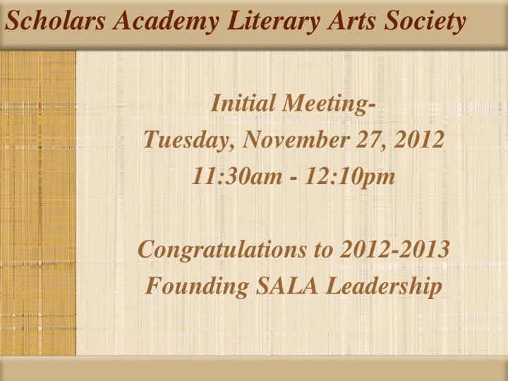 Scholars Academy Literary Arts Society