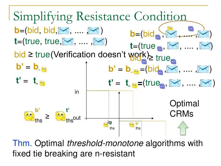 Simplifying Resistance Condition