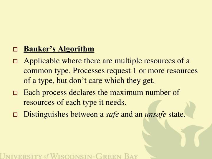 Banker's Algorithm