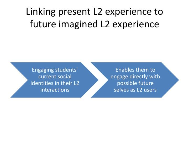 Linking present L2 experience to