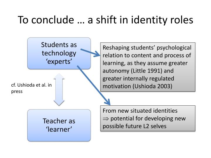 To conclude … a shift in identity roles