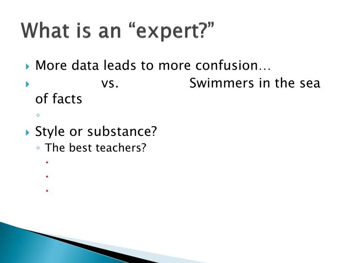 What is an expert1
