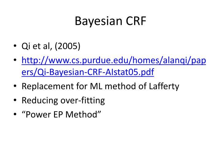 Bayesian CRF