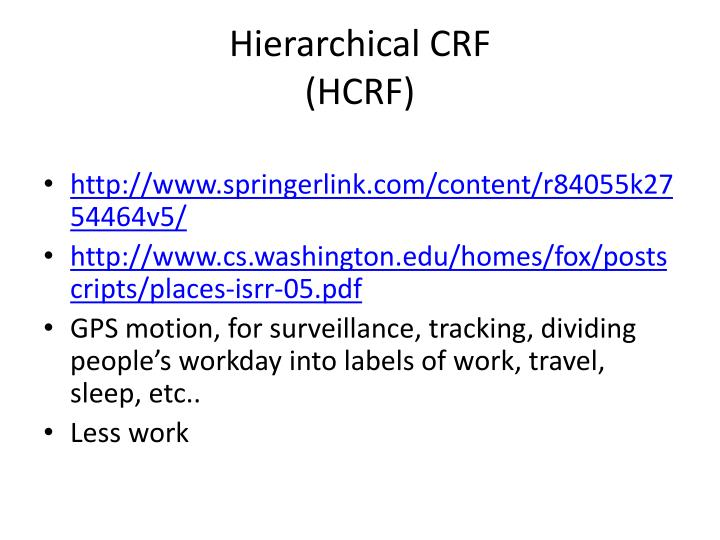 Hierarchical CRF