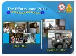 the efforts june 2011