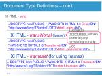 document type definitions con t