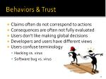 behaviors trust