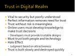 trust in digital realm