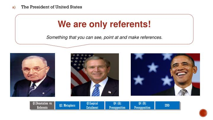 We are only referents!