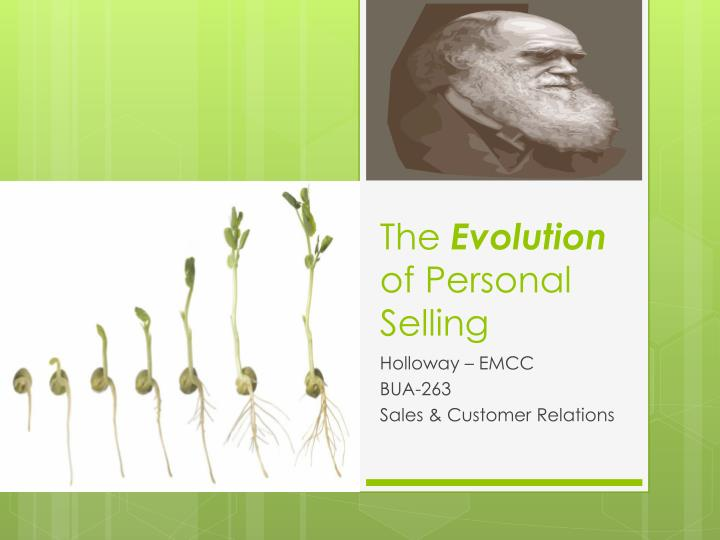 the evolution of personal selling n.