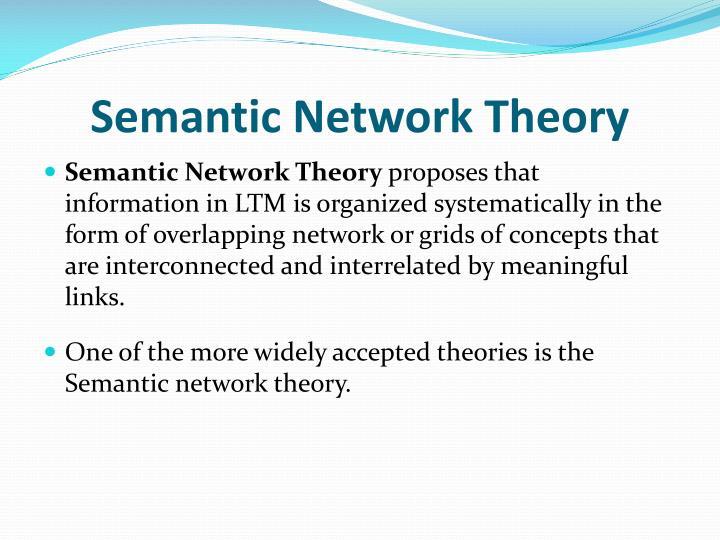 Semantic network theory