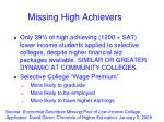 missing high achievers