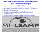 new nsf funded phase ii partnership with nine community colleges 2010 2015