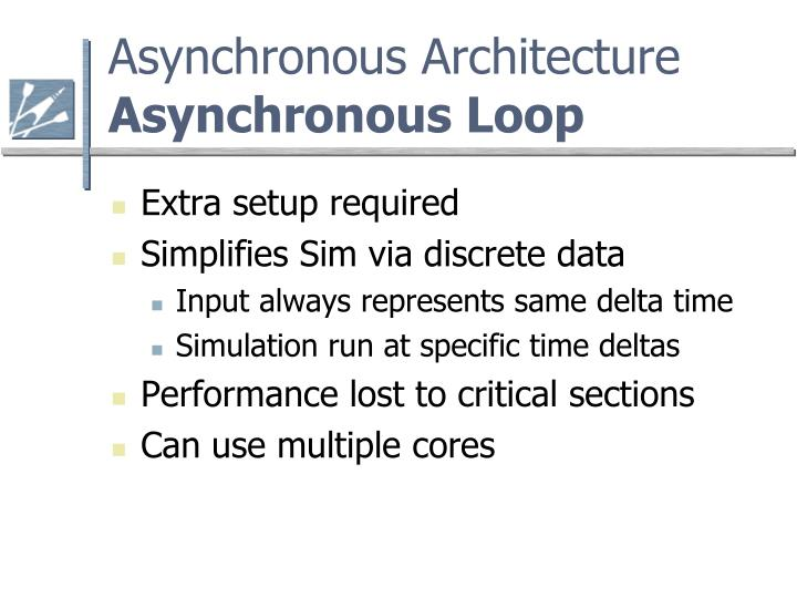 Asynchronous architecture asynchronous loop