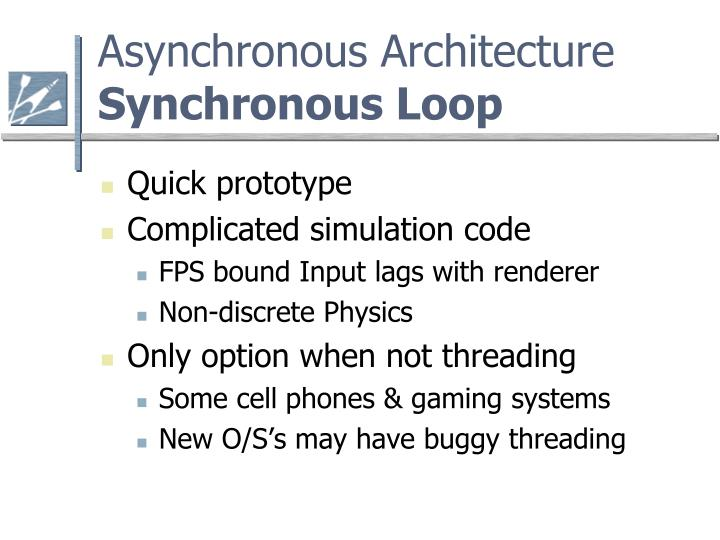 Asynchronous architecture synchronous loop