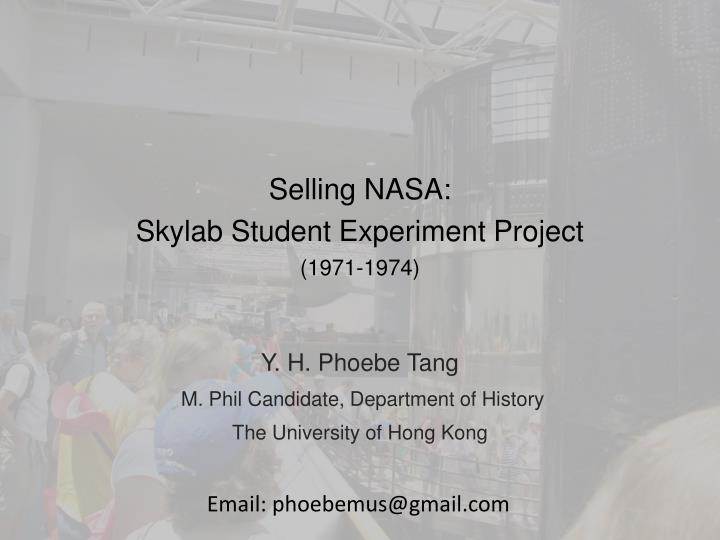 Selling nasa skylab student experiment project 1971 1974