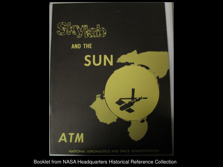 Booklet from NASA