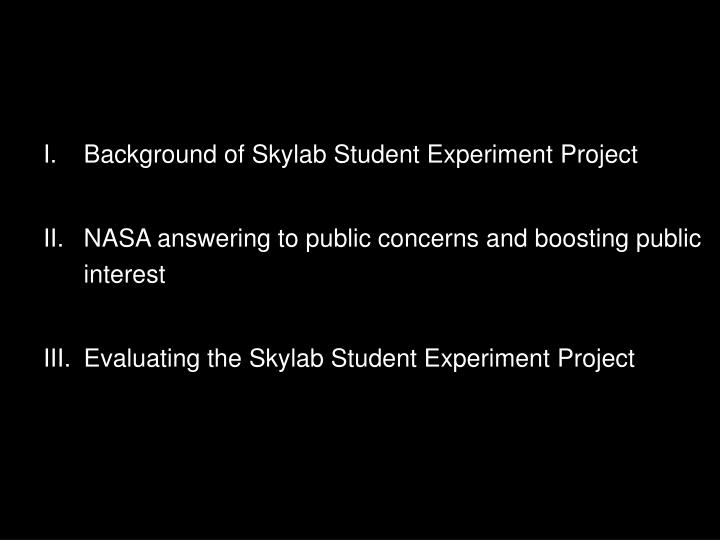Background of Skylab Student