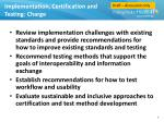 implementation certification and testing charge
